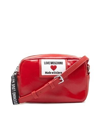 Love Moschino   Marka Logolu Ayarlanabilir Omuz Askılı Çanta Kadın Çanta Jc4033Pp1Clc150A Kırmızı